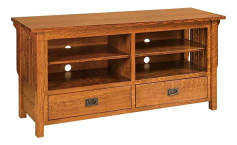 maple wood tv cabinet amish lancaster mission tv stand open
