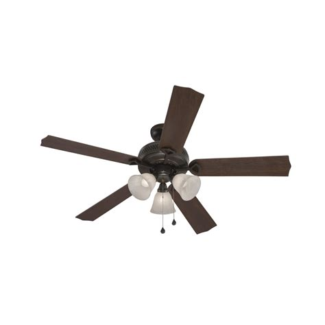 harbor breeze 3 blade fan shop harbor breeze barnstaple bay 52 in bronze downrod