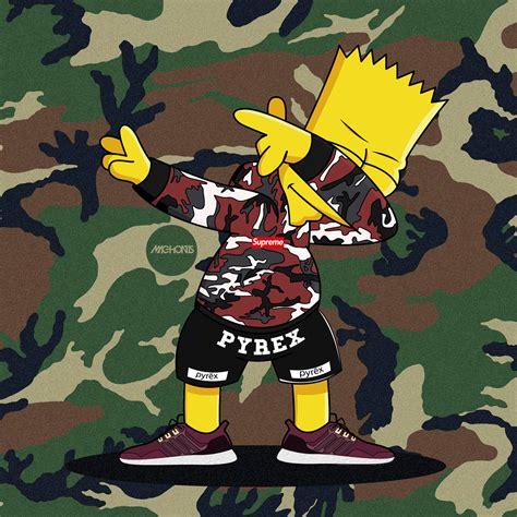 Bart Simpsons X Supreme dabbin bart supreme adidas ultra boost on behance