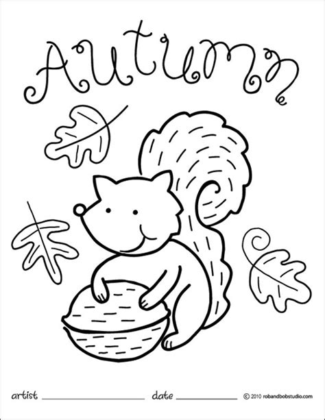printable coloring pages fall theme autumn squirrel coloring page party and lesson planning