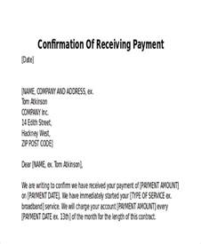 Confirmation Letter Payment Received Receipt Of Payment Letter 7 Exles In Word Pdf