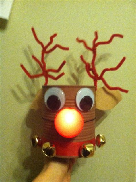 tin can reindeer christmas crafts for kids pinterest