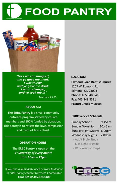 Food Pantry by Edmond Road Baptist Church Food Pantry