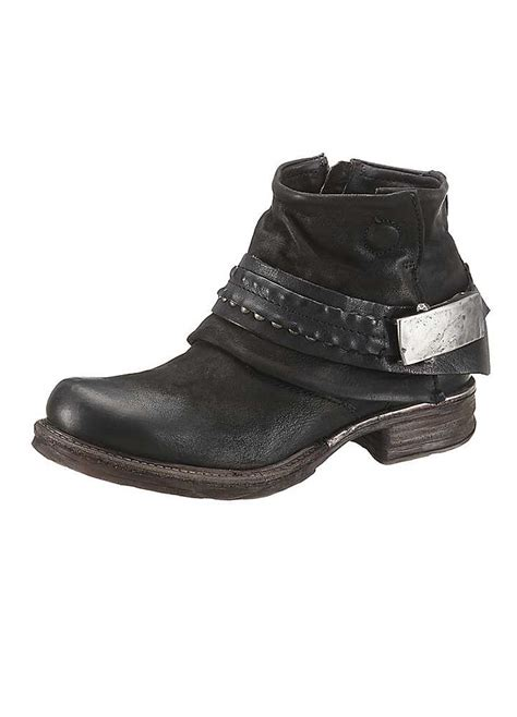low heel leather ankle boots by airstep curvissa