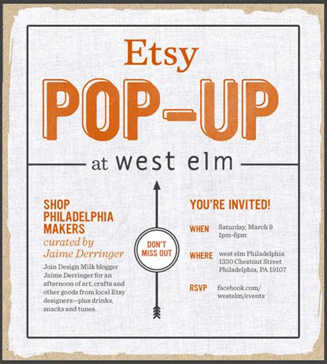 design milk etsy etsy pop up at west elm philly curated by design milk