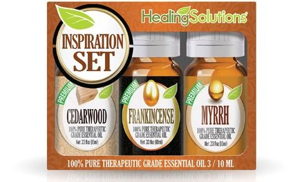 Healing Solutions Essential Feminity Set Is 6 Made In Usa 1 essential oils 3 pc groupon goods