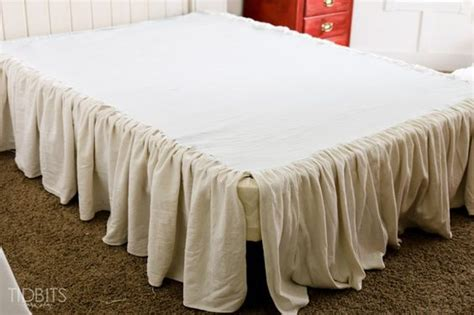drop cloths bed skirts and beds on