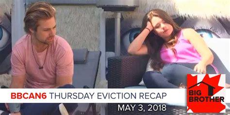 Thursday Three Reality Tv by Big Canada 6 May 3 Thursday Eviction Recap