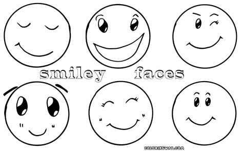 smiley happy face coloring pages print coloring