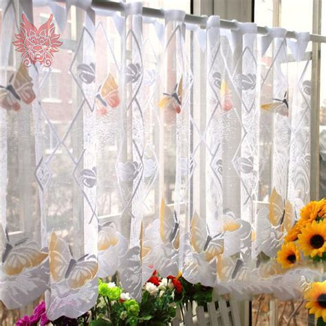 Butterfly Kitchen Curtains Popular Sheer Butterfly Curtains Buy Cheap Sheer Butterfly Curtains Lots From China Sheer