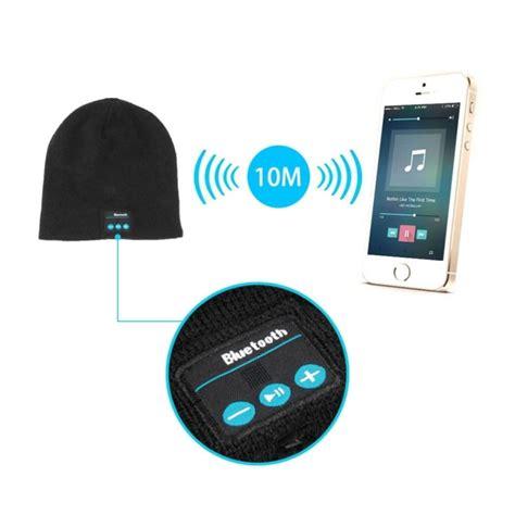bonnet bluetooth iphone android ecouteur sans fil mains libres noir