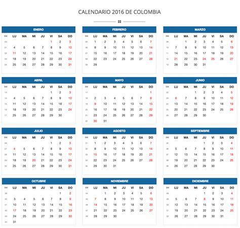 Calendario 2017 Vector Colombia   2017 Calendar Printable