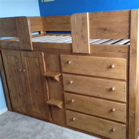 4 drawer cabin bed with traditional finish aspenn furniture