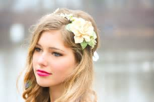 Headband With Flower - gallery for gt wedding flower headbands
