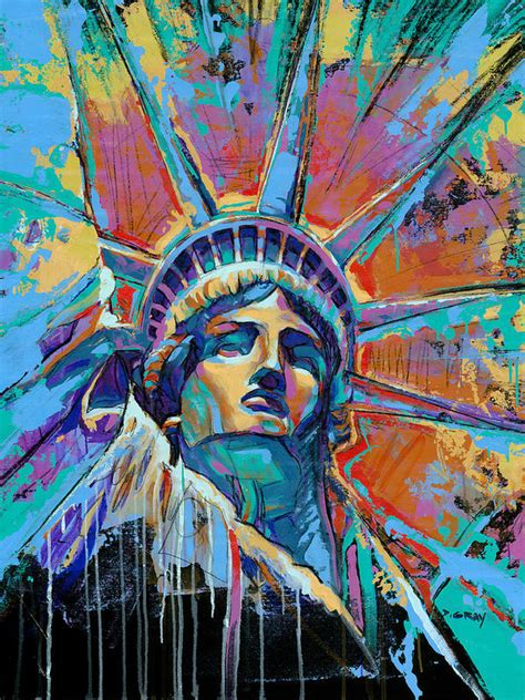 liberty in color print by damon gray