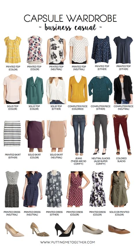 Business Casual Wardrobe by Putting Me Together Business Casual Capsule Wardrobe