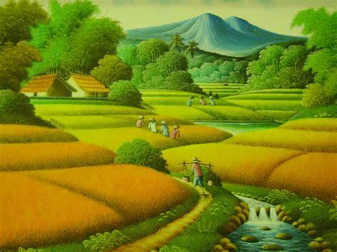 Lukisan Pemandangan Pegunungan interior shop interior design painting galery