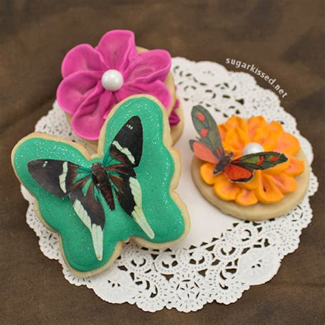 butterfly cookies made with wafer paper butterfly cookies wafer paper giveaway fancy flours