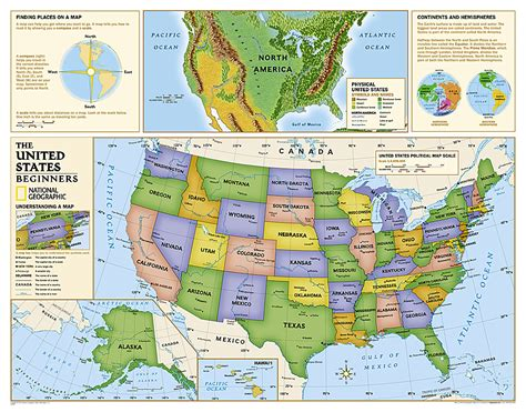 america map for students buy us map for beginners grades k 3 laminated