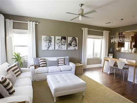 Best Ideas To Select Paint Color For A Small Kitchen To Make It Bigger Comfortable Living Room Paint Color Ideas With Tufted White Leather Ottoman Coffee Table And