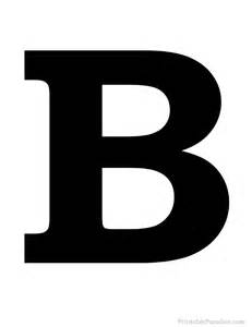 printable letter b silhouette print solid black letter b