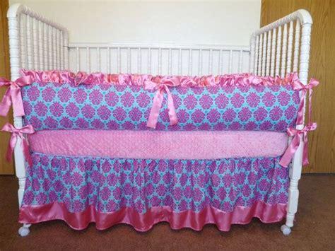pink and turquoise crib bedding custom crib bedding set bright pink and turquoise