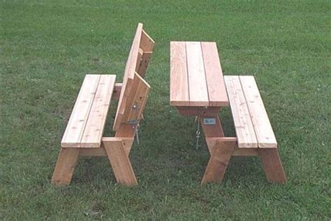 easy picnic table bench plans folding picnic table plans