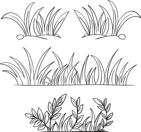 Sketches Grassy Land by Grass Drawing Black And White Grass Vector Drawing