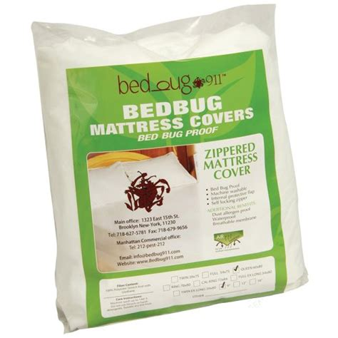 Allergy Proof Mattress Cover by Bed Bug 911 174 Allergen Proof Water Repellent Mattress Or