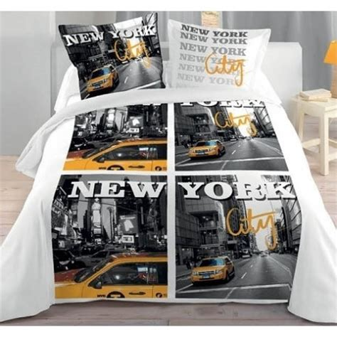 Housse De Couette New York 2 Personnes by New York City Housse Couette 2 Taies Lit 2 Personnes