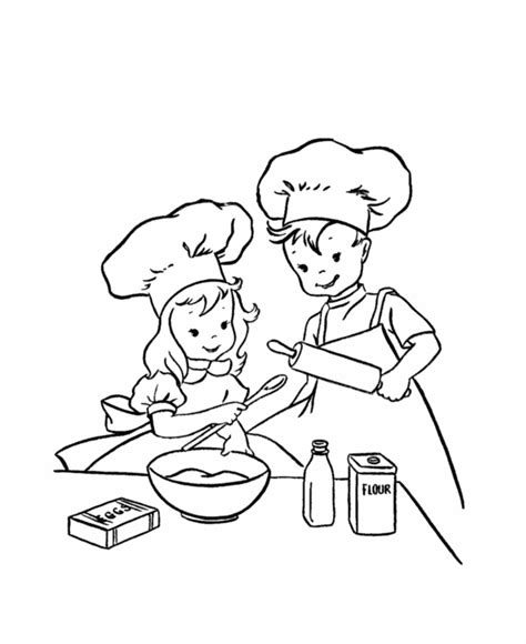 bake cake coloring page free coloring pages of hello baking