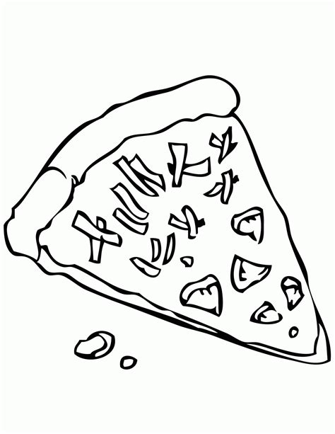 pizza coloring sheet coloring home