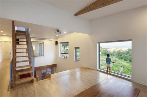 house design inside and out zigzag house with panoramic views and a slide inside