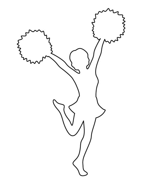 Pin By Muse Printables On Printable Patterns At Patternuniverse Com Pinterest Cheerleading Cheer Template