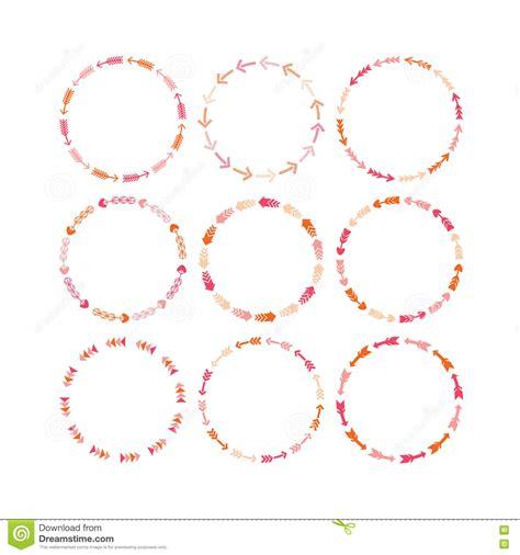 design pattern e framework circle frame with modern design borders stock image
