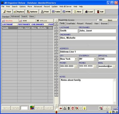 Family Directory Template family directory template