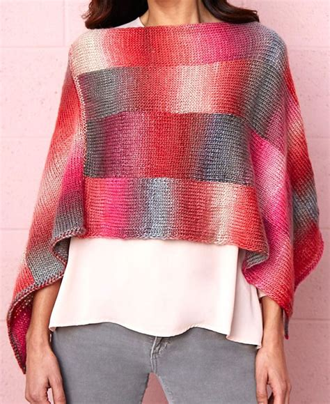 poncho pattern knitting yarn 236 best knitting poncho images on pinterest knit