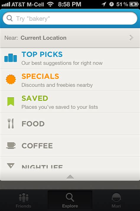 Foursquare Search Iphone Search Screenshots Mobile Patterns