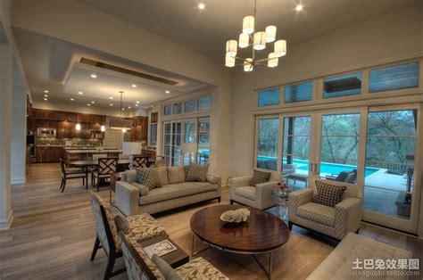 open concept home decorating ideas 现代美式风格装修客厅效果图 土巴兔装修效果图