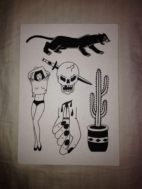 flash art tattoos slower black no shading necessary flash