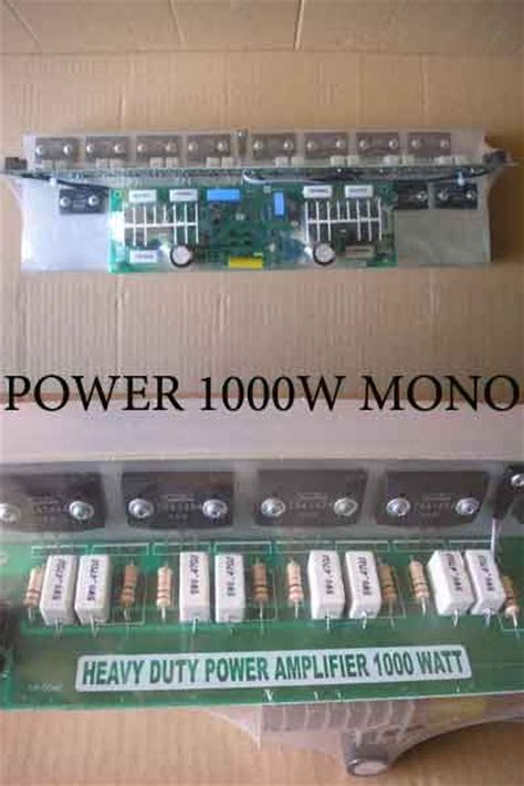 Trafo Bell 30a kit power 1000watt mono riau elektronik