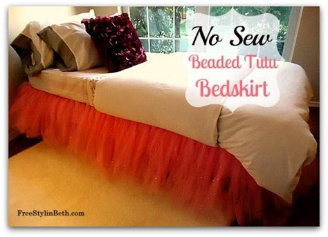 Diy Adorable Bed Skirt Tutu by How To Make Your Own No Sew Tutu Bed Skirt Trusper