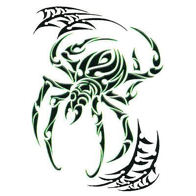 twisted tribal tattoos spider temporary tattoos collection on ebay