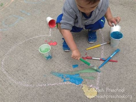 chalk paint process diy chalk paint teach preschool
