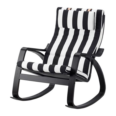 Black And White Rocking Chair by Po 196 Ng Rocking Chair Stenli Black White