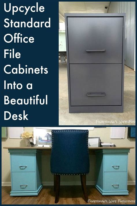 file cabinet desk diy 15 diy computer desks tutorials for your home office 2017