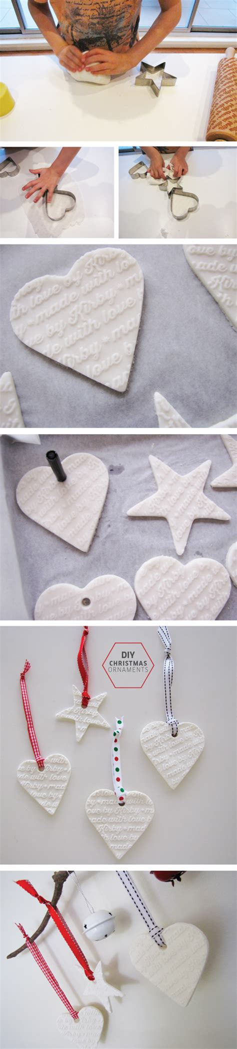 how to make white clay christmas ornaments tomfo this