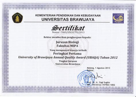 department of biology 187 prestasi institusi