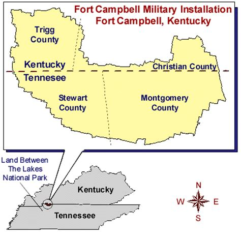 kentucky map fort usace project labor agreement survey for ft cbell