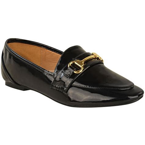 flat loafers womens womens loafers flat smart brogues classic formal